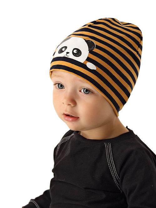 Stripe Panda Boys Hat