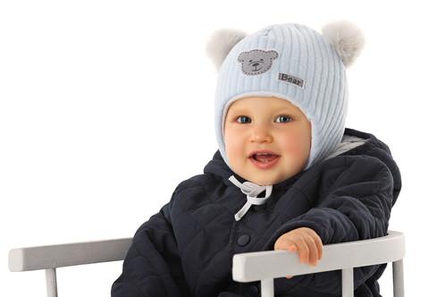 8da5f0c3a Lt. Blue Bear Winter Hat with 2 Pom Poms