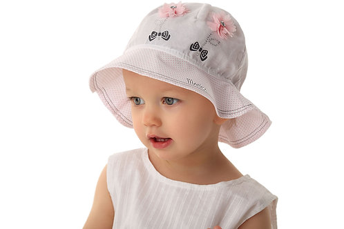 Pink Polka Dot Summer Hat