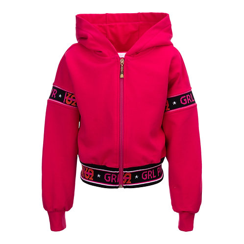Fuschia Fleece Girl Power Sweat Suit