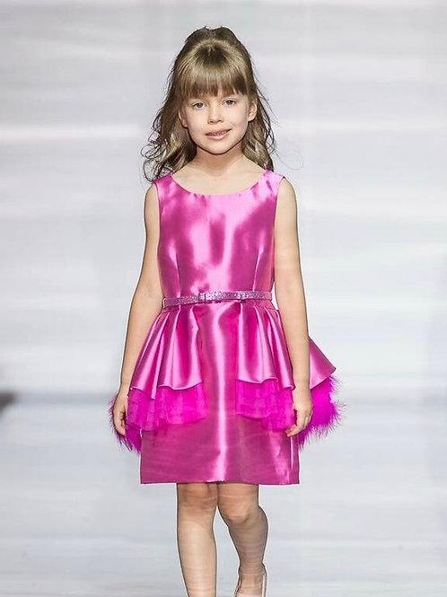 Hot Pink Puffer Dress