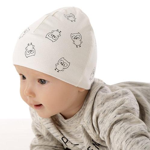 Ivory Hat w/Cutest Baby Owls