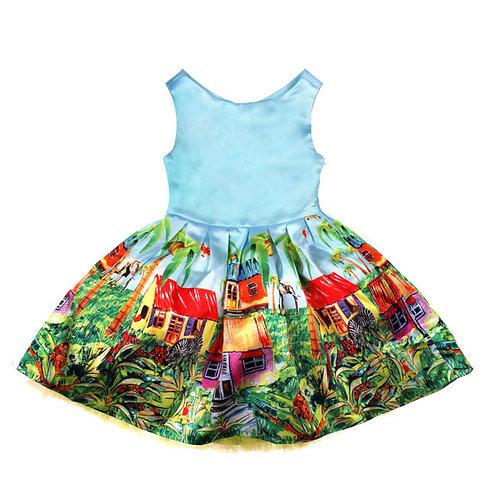 Lt. Blue Safari Dress