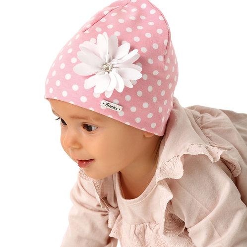 Pink Polka Dot Baby Girls Hat