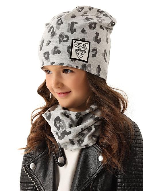 Grey Leopard Fall Girls Hat