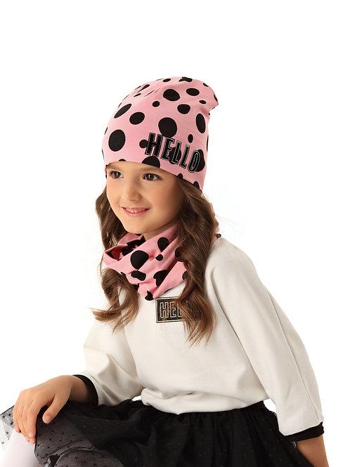 Pink Hello Girls Hat