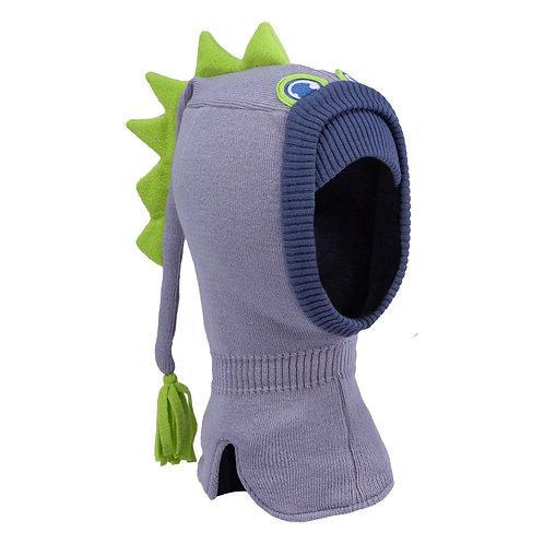 Grey/Green Dinosaur Boys Knit Pullover Hat