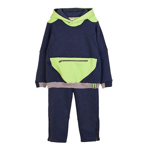 Navy/Lime Fleece Set