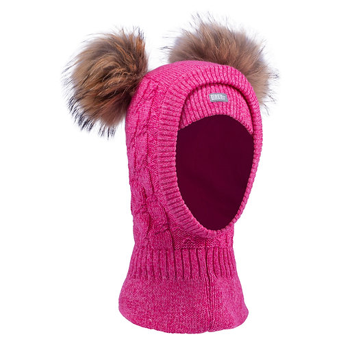 Hot Pink Girls Knit Pullover Hat