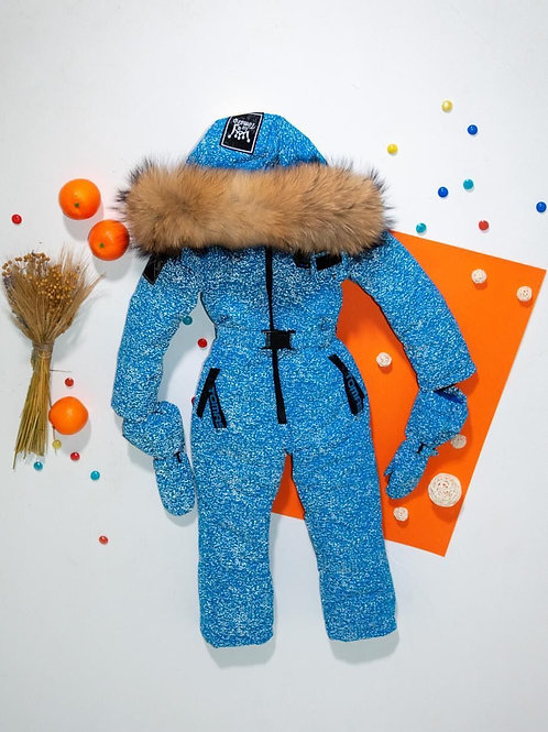 One Piece Blue Winter Snow Jump Suit