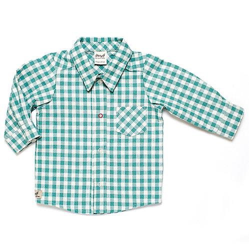 Green Checkered Button Down Shirt