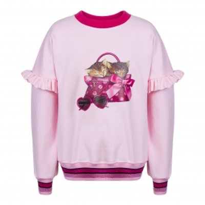 Cute Kittens Pink Sweatshirt