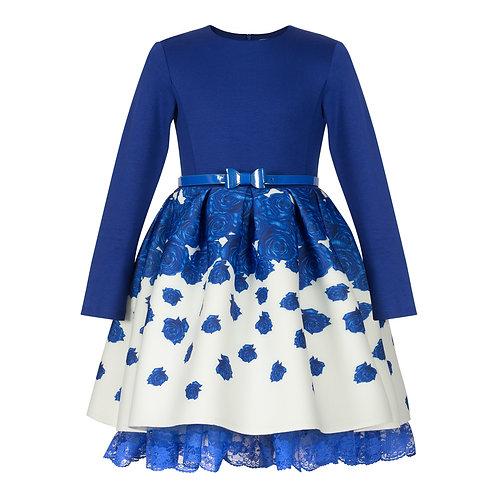 Blue Rose Puffy Dress