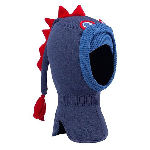 Blue/Red Dinosaur Boys Knit Pullover Hat
