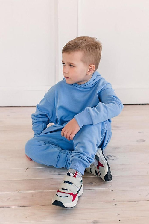 Oversized Boys Sweatsuit - Blue