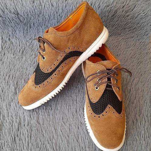 Zapatos en piel auténtica estilo gamuza y micro fibra