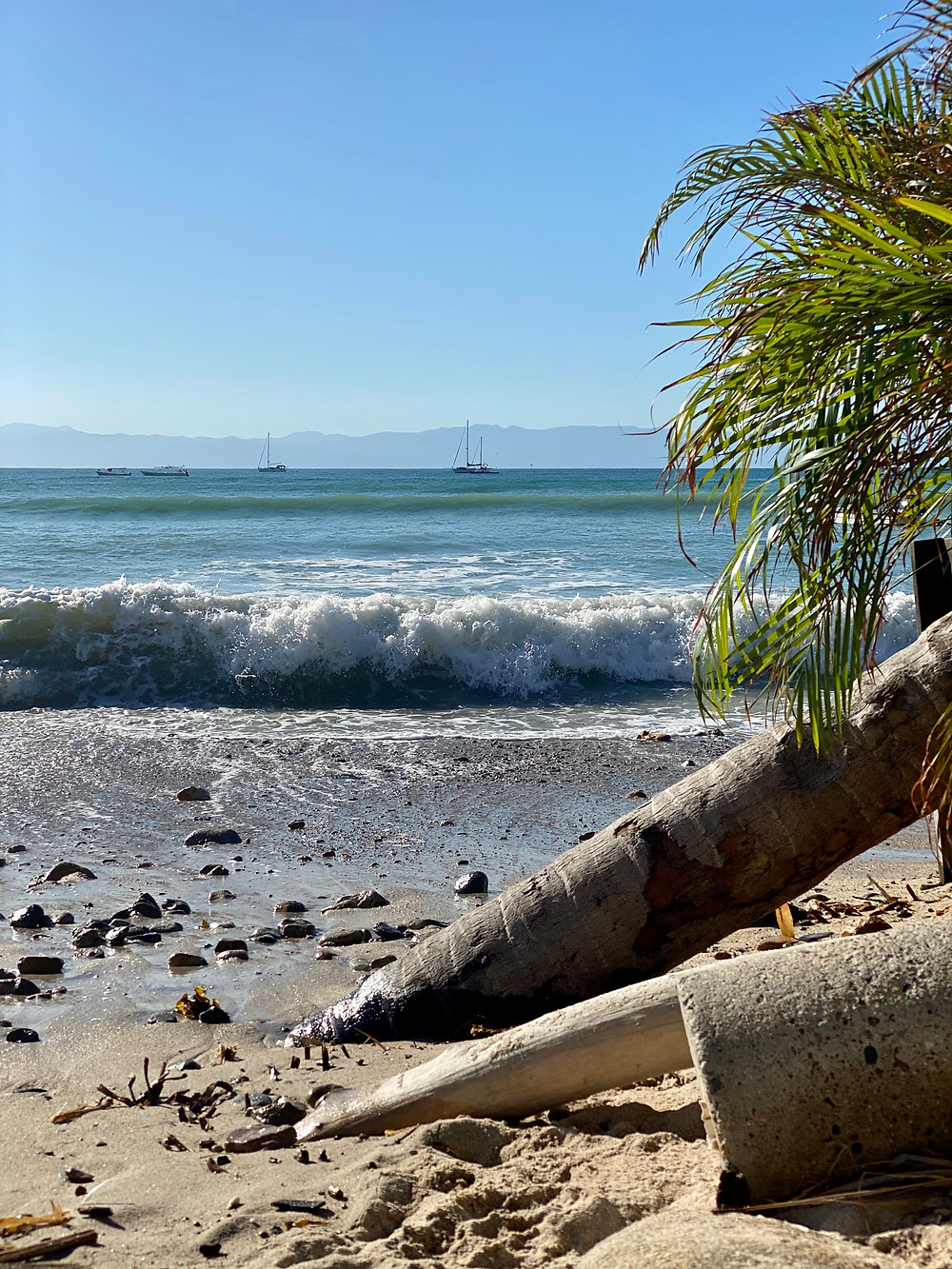 Sandy beach in Mexico