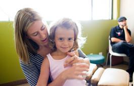 Dr. Molly adjusting child