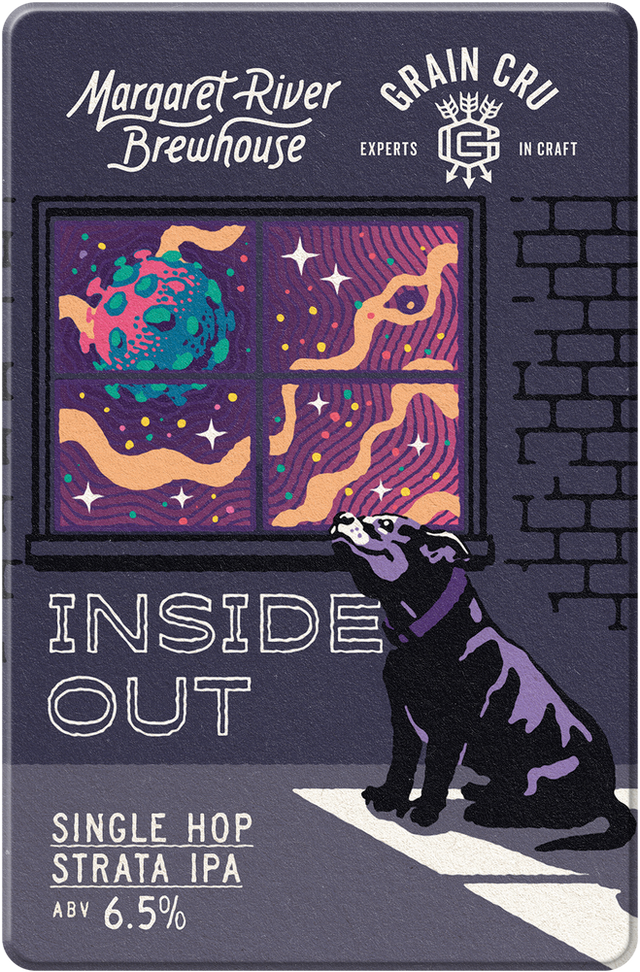 Single Hop Strata IPA - 'Inside Out' is a mid-Covid collab with our mates at Carlisle Cellarbrations. It showcases the Strata hop with its dank, resinous bud-like characteristics. A special beer that gives us a window to the outside.