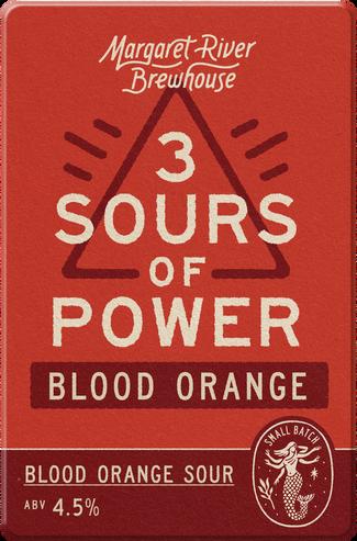 First in the summer series of 3 Sours of Power - Blood orange gose - sour, orange, salt.