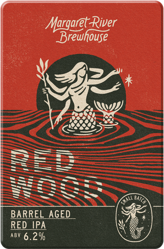 Red IPA barrel aged in Margaret River red wine barrels. The dynamic of the beer changes to add bitterness and rounded vanilla notes. Red Wood.
