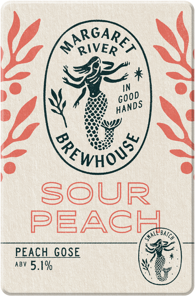 Cloudy and effervescent, sharp expressive peach sour.