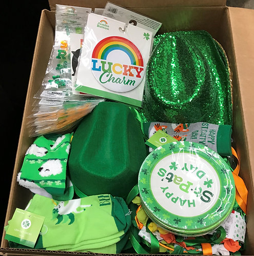 Case Lot Of St. Patrick's Day Merchandise - 125 Units - Shelf Pull Condition
