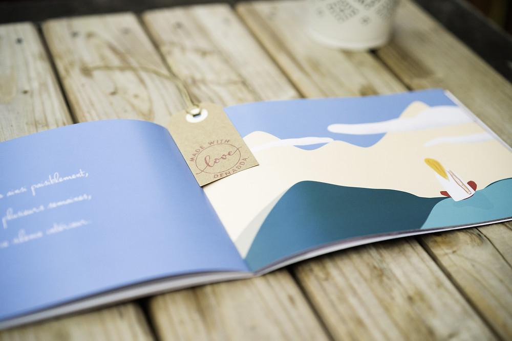 Denadda au sommet livre broché, livret de coloriages, cartes et posters. Livres jeunesse illustré. Récit initiatique au tibet, dans l'himalya