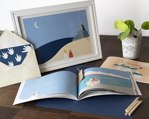 collection au sommet, un livre,un livret de coloriages et des illustrations en edition limitée