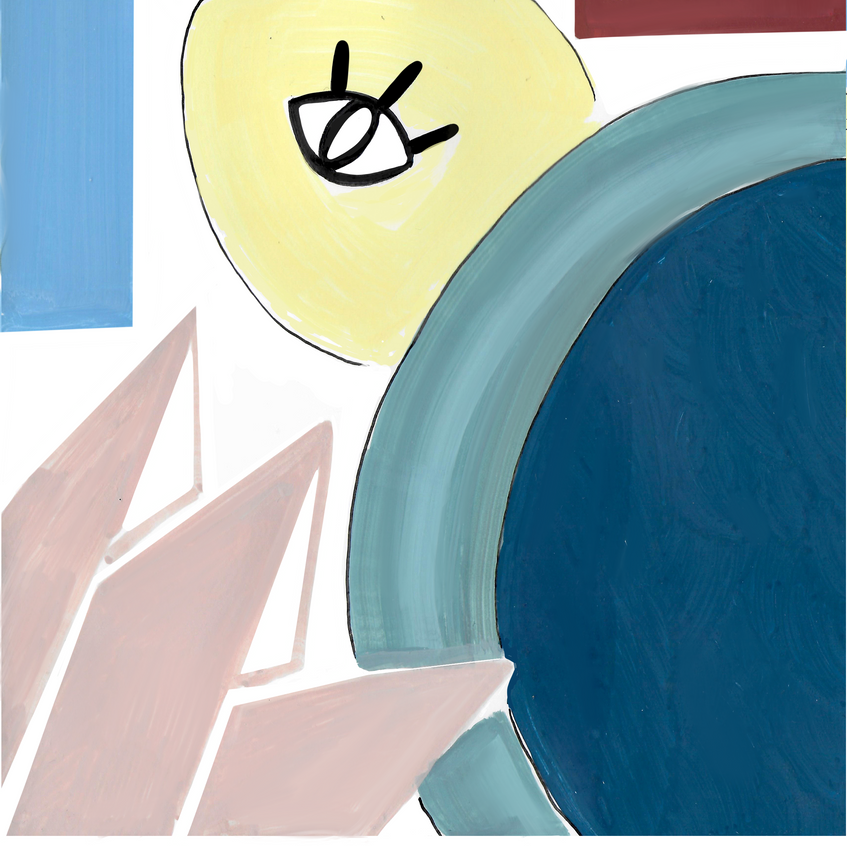 Denadda, Eya, illustrations acyliques, toucan, crable, perroquet, couleurs pastls, elma bouthors et sam vegas, illustrations, eya en formes de picasso, illustrationsgraphique