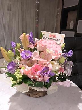 開店祝いのお花が届きました♡