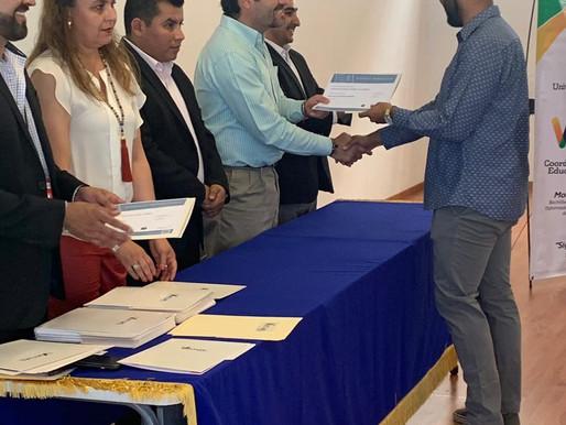 Ceremonia de entrega de certificados en competencias profesionales | Testing Program