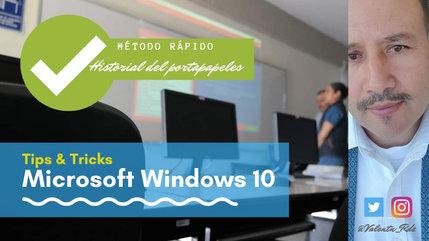 Método rápido para tener acceso al portapapeles de Windows 10