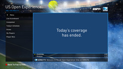 DIRECTV US Open Tennis Mix Screen