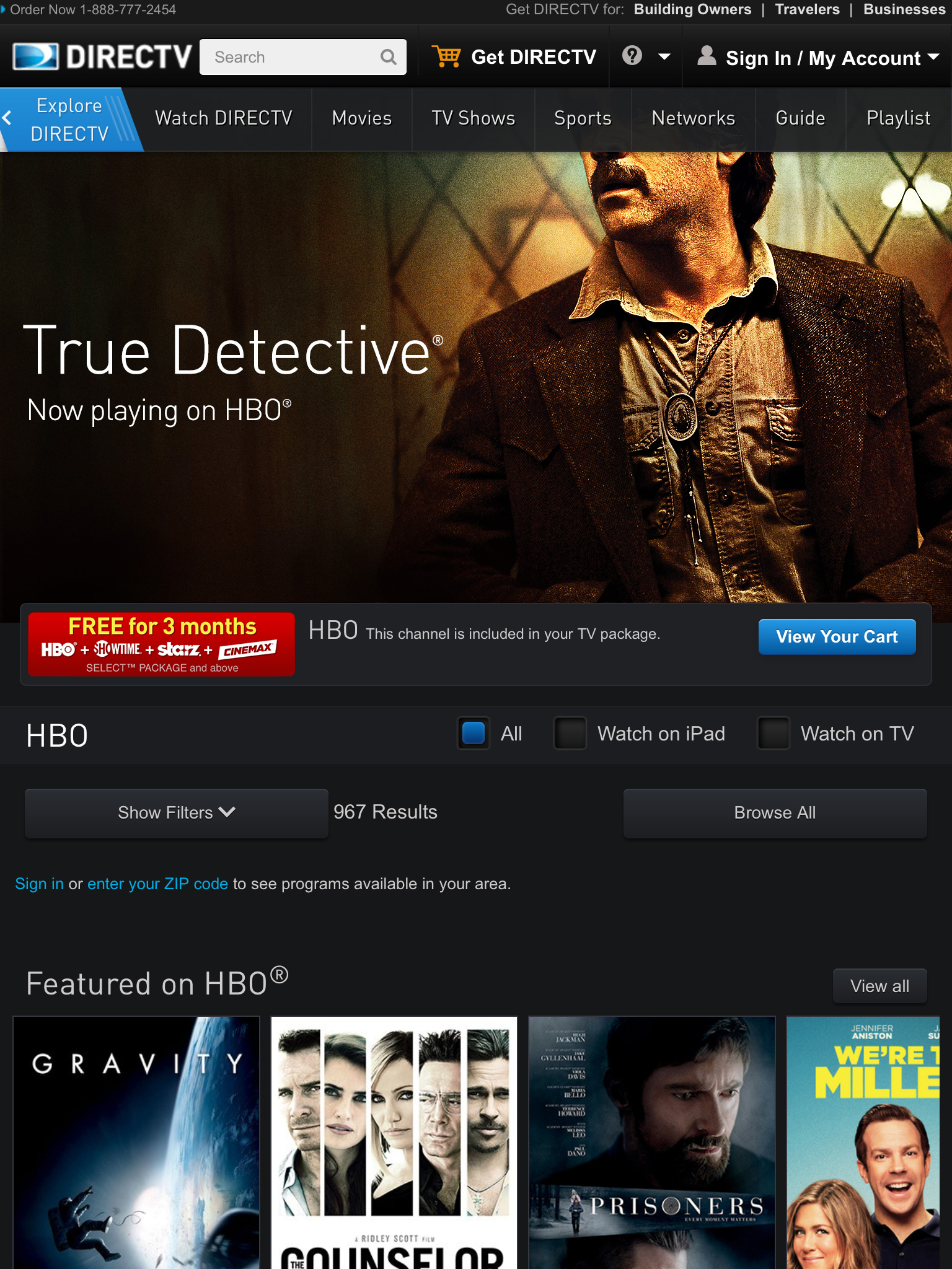 DIRECTV Premium Tablet Header