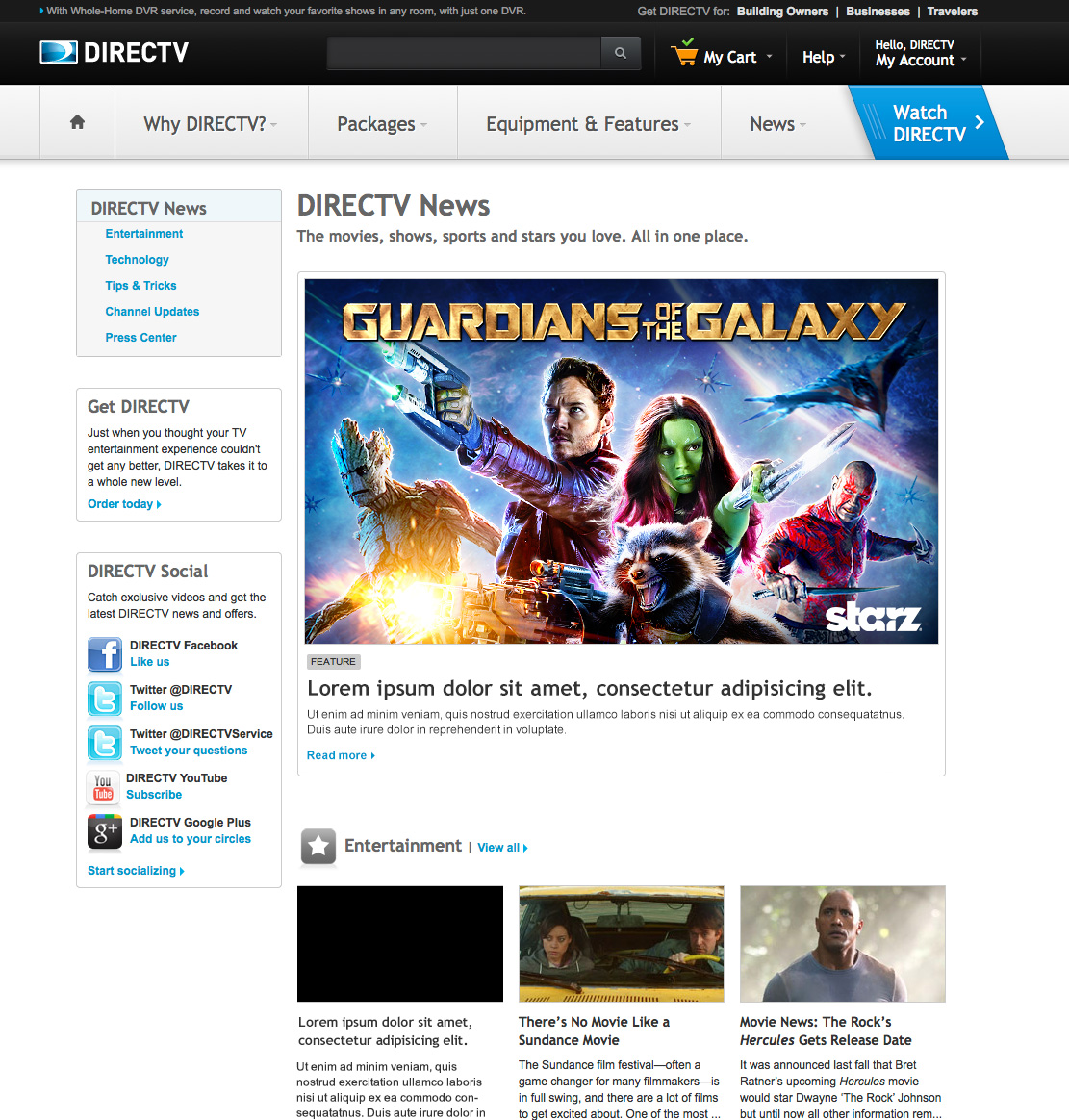 DIRECTV Guardians of The Galaxy