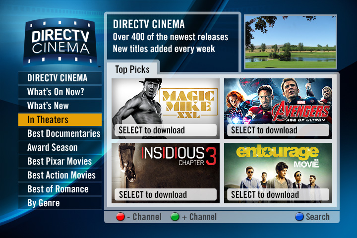 DIRECTV All Movies SD Homepage