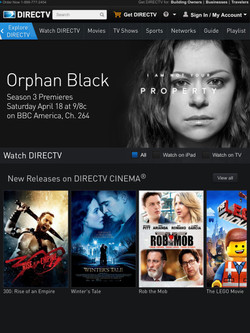 DIRECTV Tap A Tablet Header