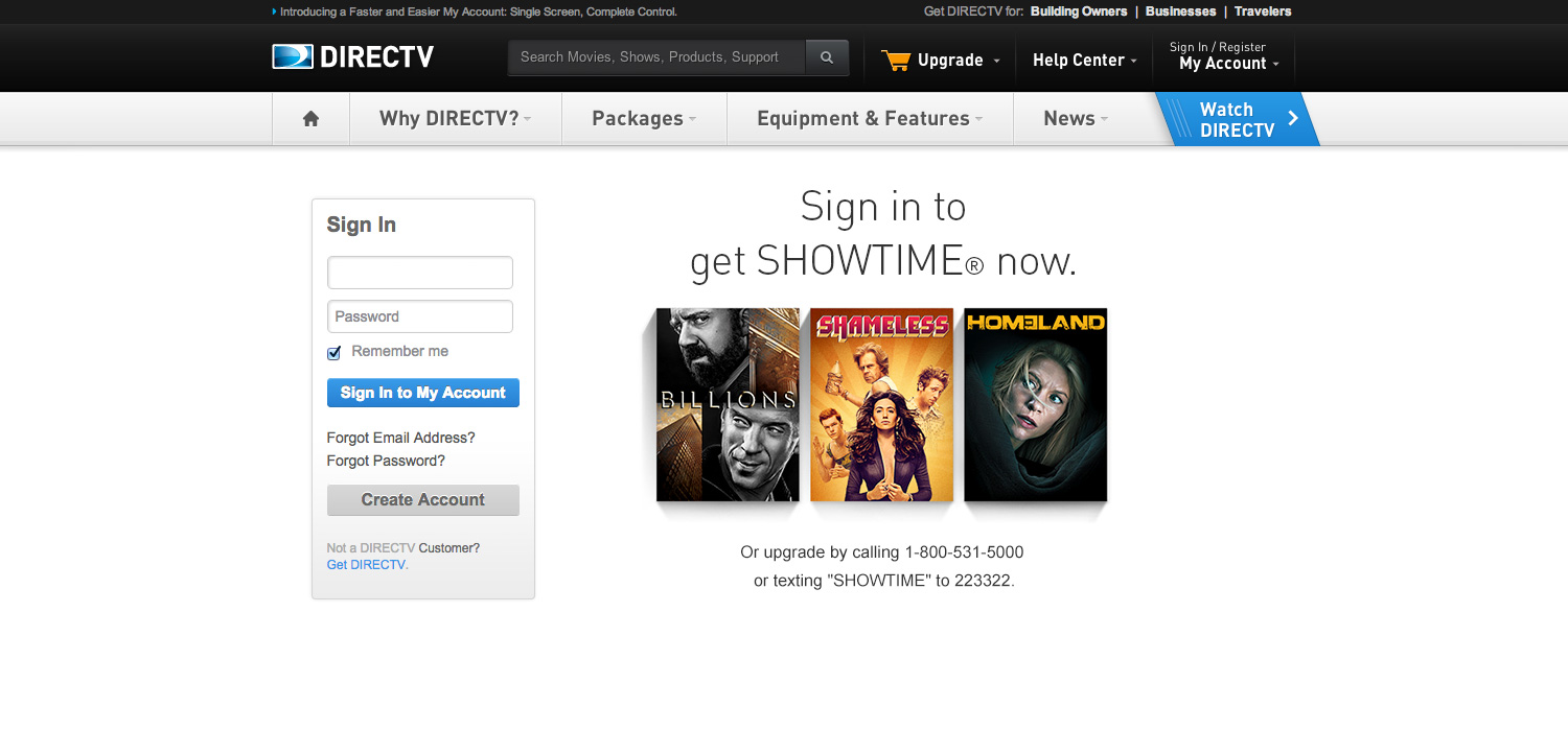 DIRECTV Customer Login Logout Page