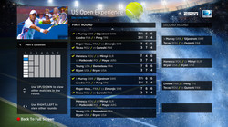 DIRECTV US Open Tennis Draw Screen