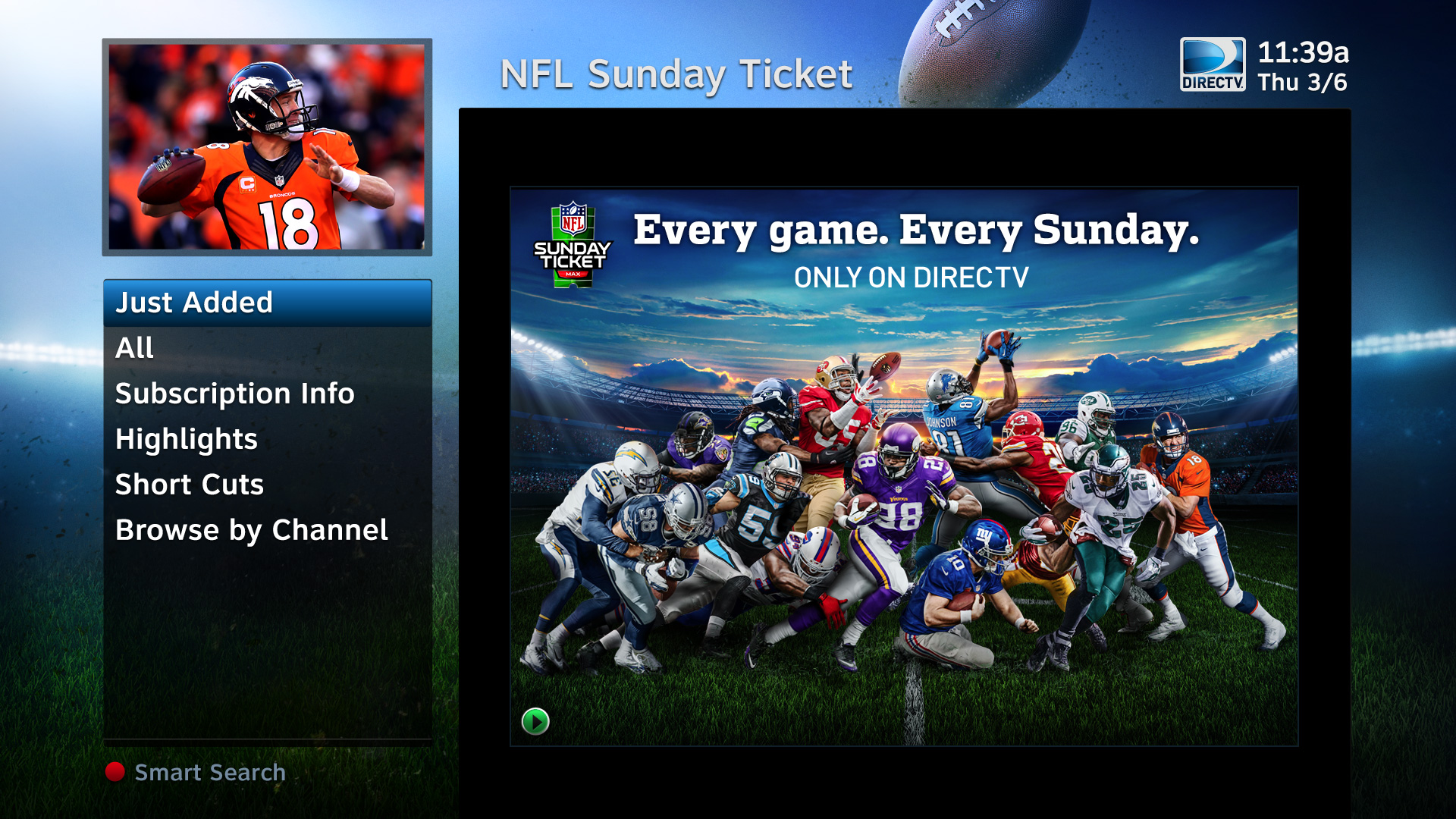 DIRECTV Showroom NFLST Poster