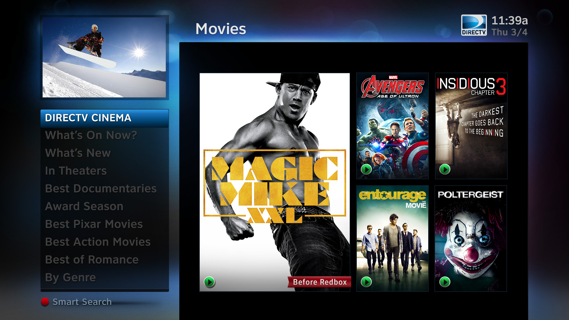 DIRECTV All Movies HD Homepage