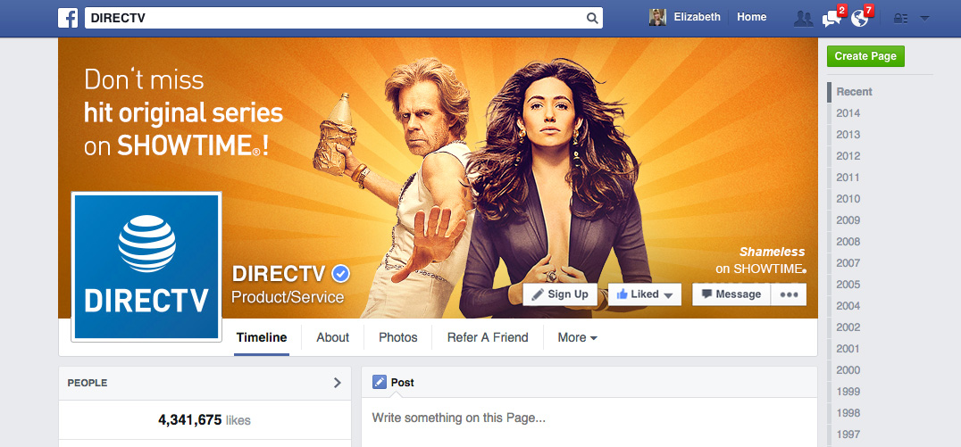DIRECTV Facebook Header