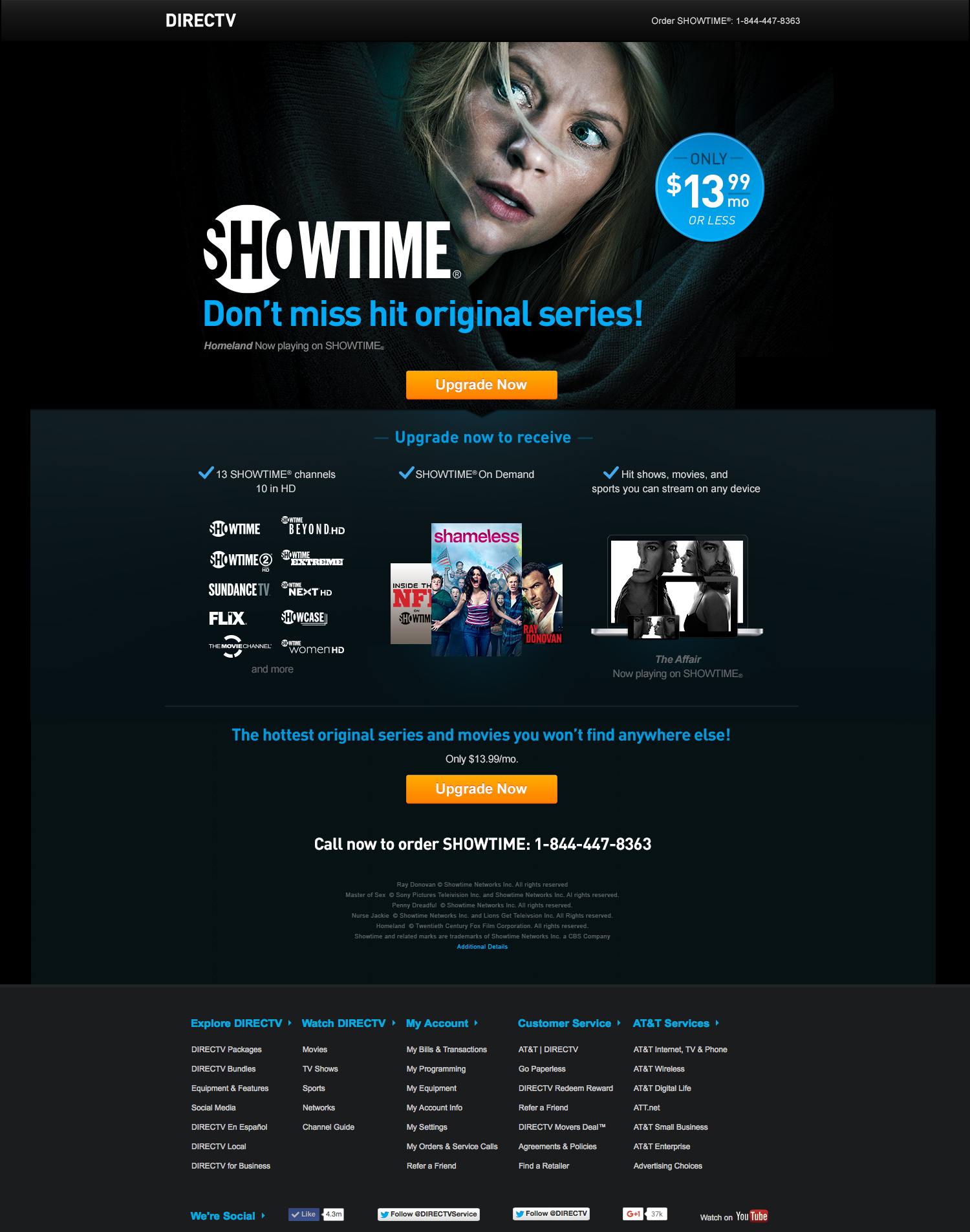 DIRECTV Optimized Landing Page