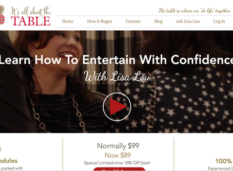 Entertain with Confidence Landing Page
