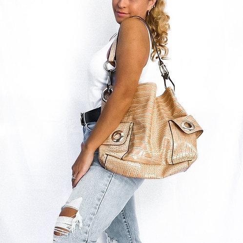 Patent Leather Croc Bag