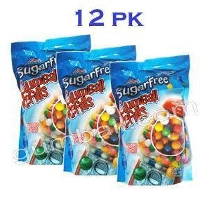 """Sugar-Free 12 Bags Bulk 5/8"""" Gumballs"""