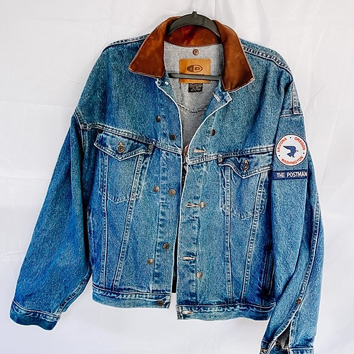 The Postman Denim Bomber Jacket