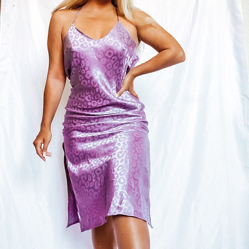 Silky cheetah dress