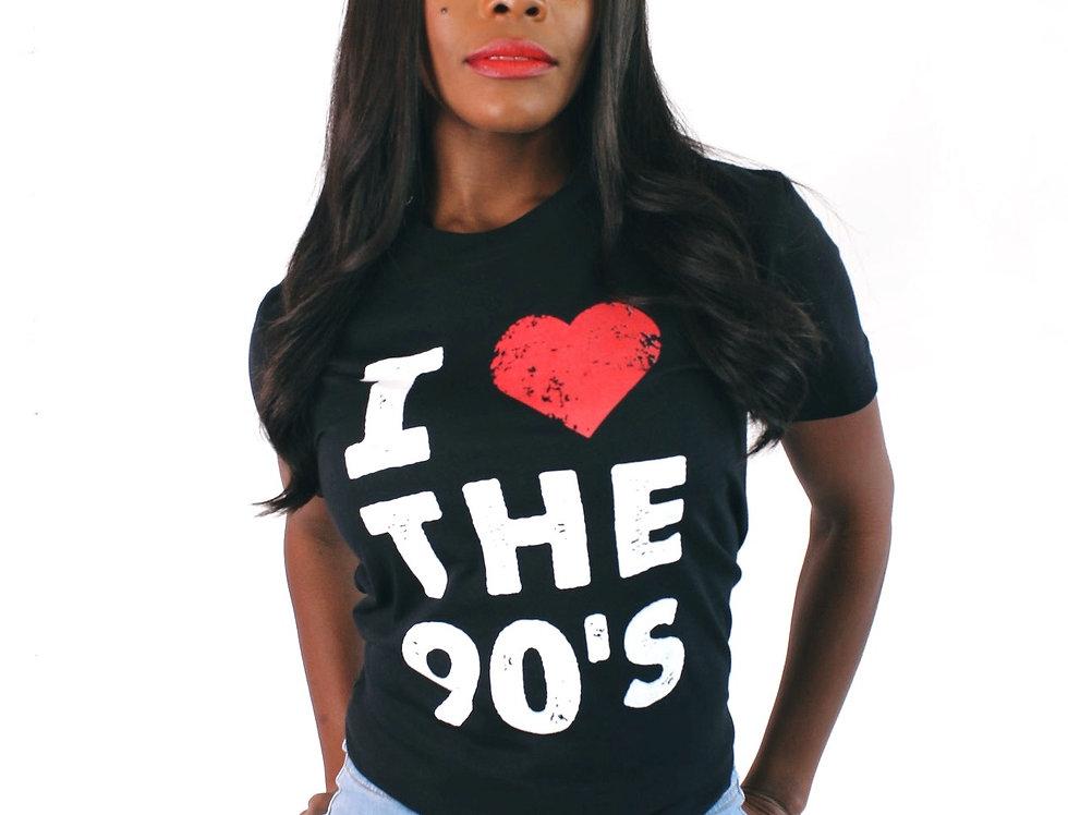 I Love the 90s Distressed (Black)